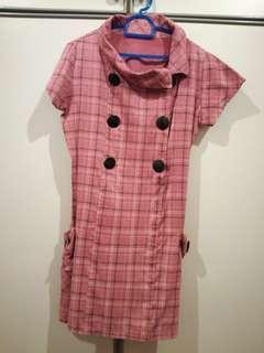 Light Maroon Short Dress #MY1212