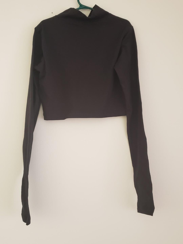 Adidas Black Long Sleeve Crop Top