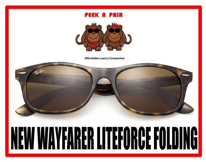 8f248076ae Authentic Ray Ban New Wayfarer Liteforce Folding Sunglasses  RB4223 ...