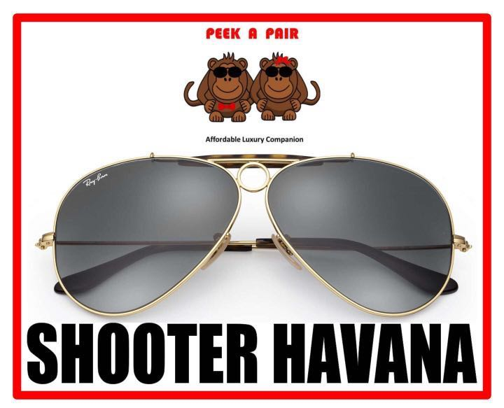 705c7bf1ac Authentic Ray Ban Shooter Havana Sunglasses  RB3138