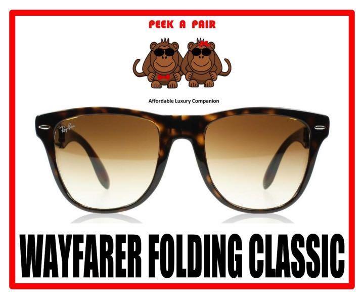 836dbd3655fc8 Authentic Ray Ban Wayfarer Folding Classic Sunglasses  RB4105 ...