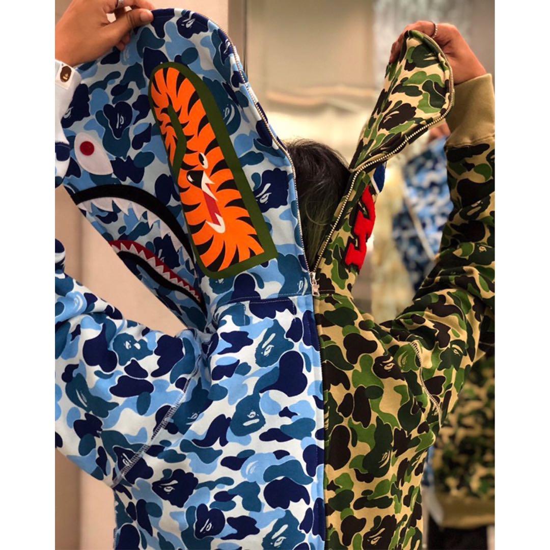 9ea8e788 BAPE ABC SEPARATE SHARK FULL ZIP HOODIE, Men's Fashion, Clothes ...