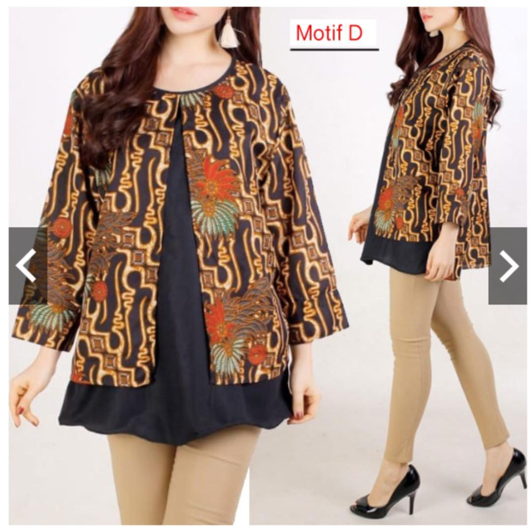 Blouse Batik Jumbo Xxl Atasan Batik Bigsize Wanita Baju Batik Jumbo Batik Modern Bigsize Fesyen Wanita Pakaian Wanita Atasan Di Carousell