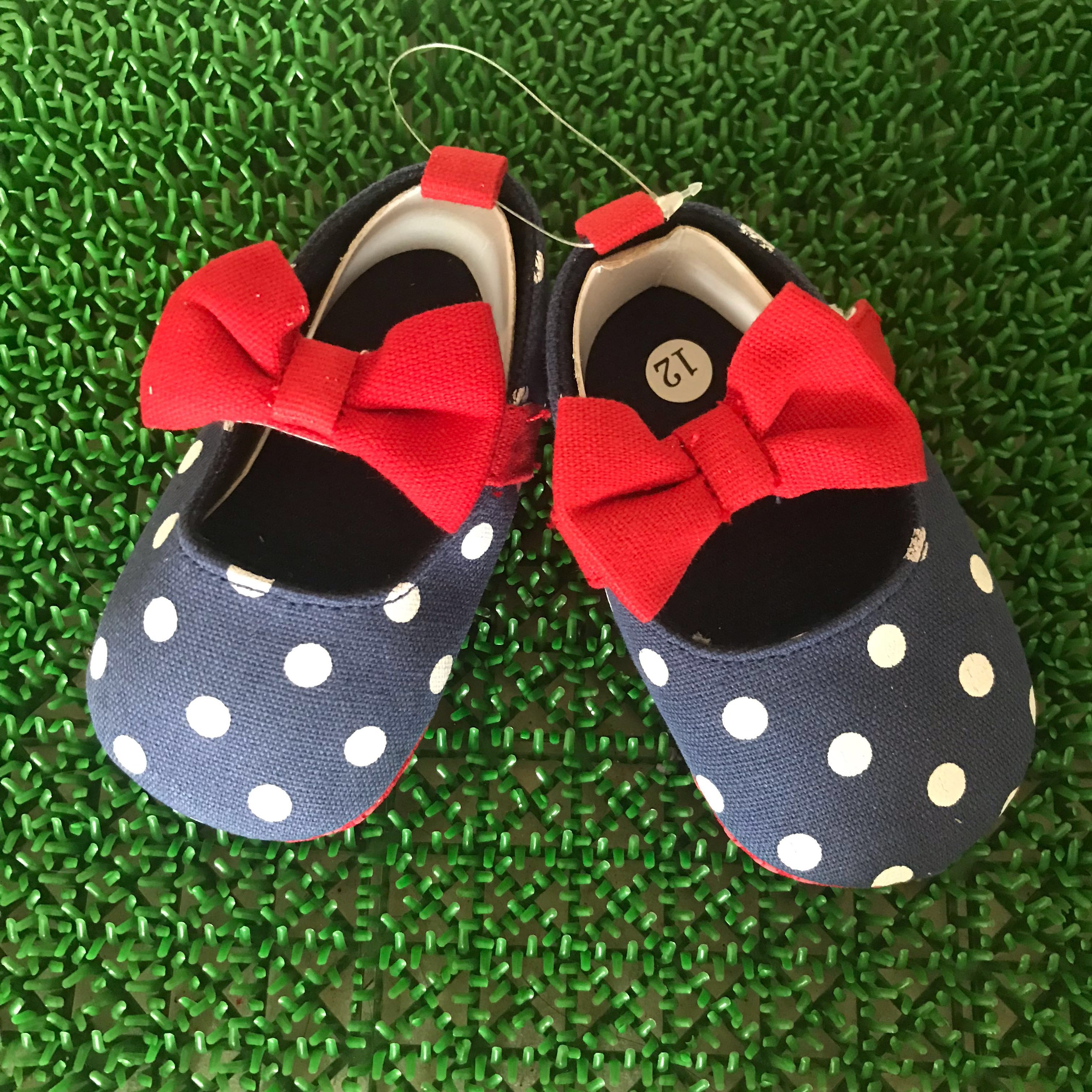 Branded Mary Jane Shoes Kids Newborn Baby Girl Bow Shoes Infant Toddler Polka Dot Prewalker Bebe Baby Girl Footwear 100% Original First Walkers Baby Shoes