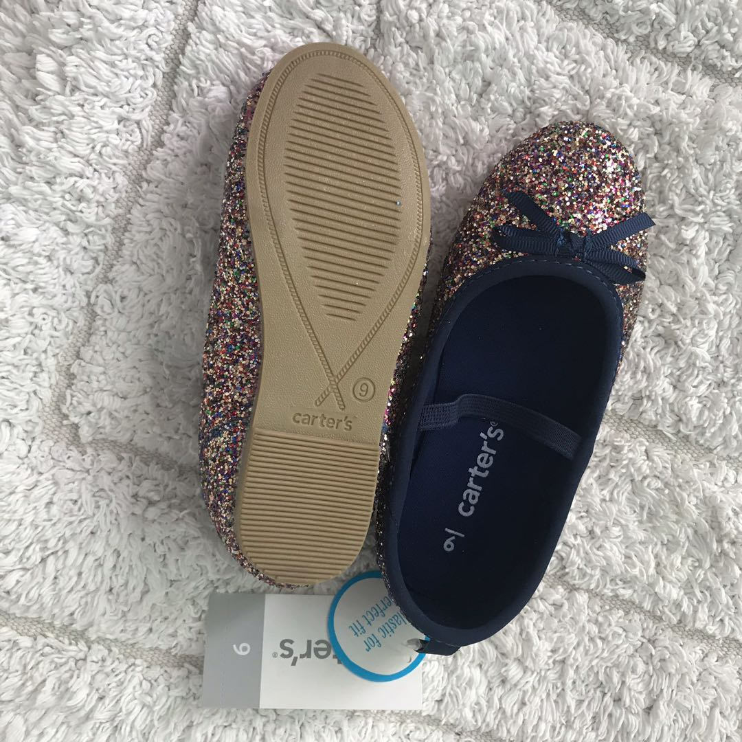 ba672713c7b0 BN Carters Toddler Girl Shiny Glitter Ballet Flats Mary Janes Party Shoes  US9! 3-4years!