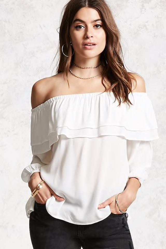 6654ee976f7c0c Bn forever 21 flounce ruffle Off Shoulder Top plus size, Women's ...