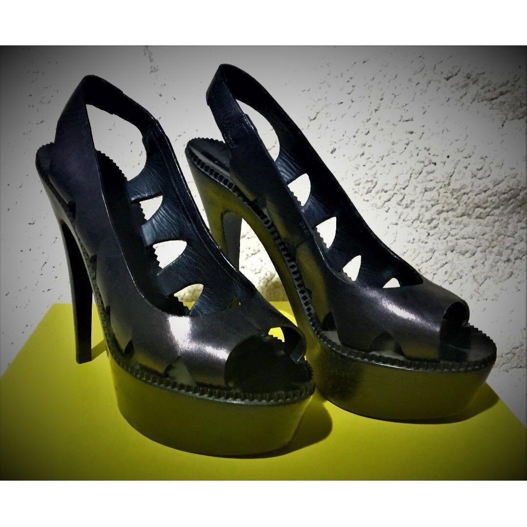 29d7ef0eac2f bottega veneta black cut out wooden platform heels