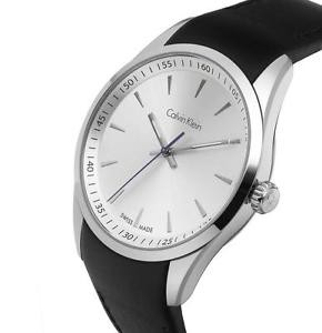 09681130d Calvin Klein Bold White Dial Black Leather Mens Watch K5A311C6, Men's  Fashion, Watches on Carousell