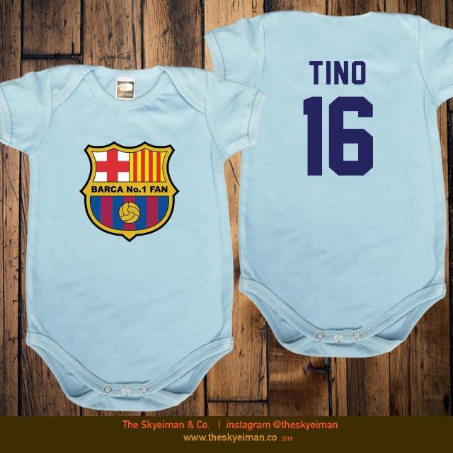 3aa5ea945cc Customised Baby Romper (Barcelona FANS), Babies & Kids, Babies ...