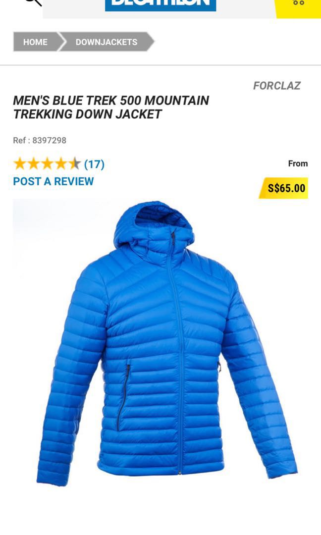c600baf66f0 Decathlon down jacket, Men's Fashion, Clothes, Outerwear on Carousell