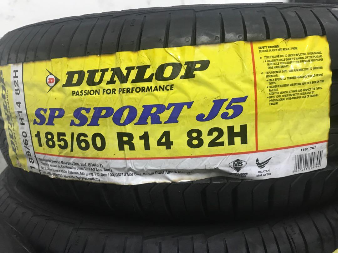 Dunlop 185 60r14 J5 Car Accessories Tyres Rims On Carousell