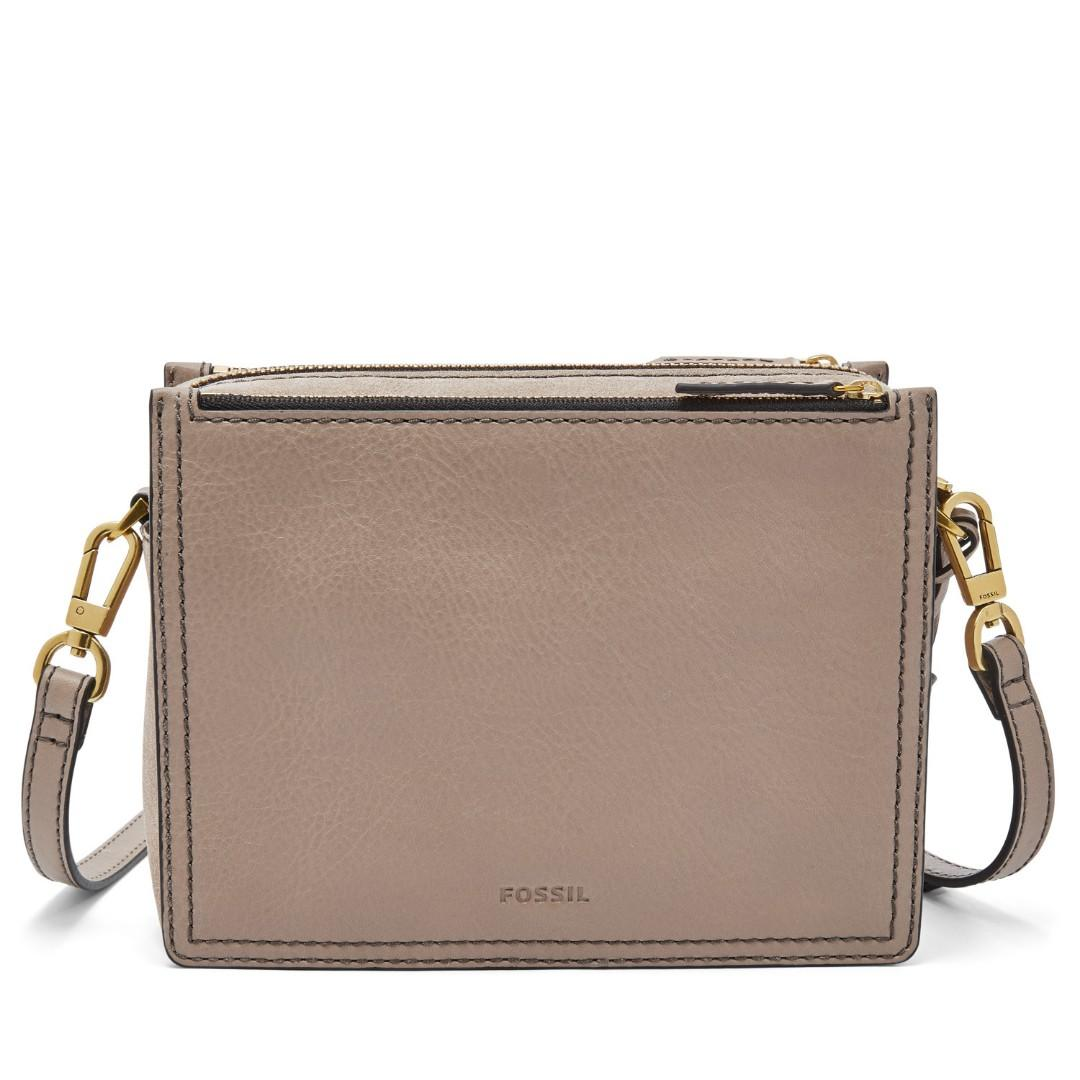 Fossil Campbell Crossbody Bag - Taupe colour