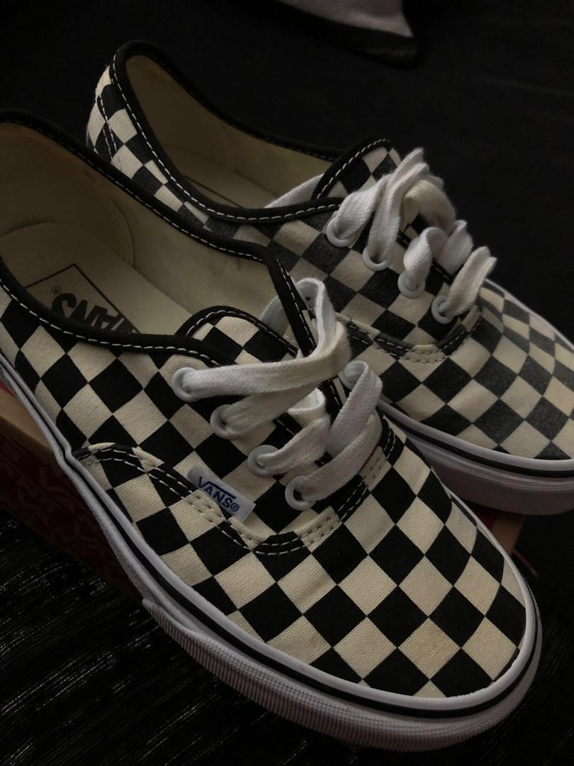 a62c4f8e64 golden coast checkered vans shoes