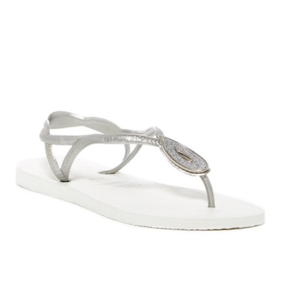 a1fef6e7f60e 4 Photos. Havaianas Luna Special Crystal Accented Thong Sandal - White ...