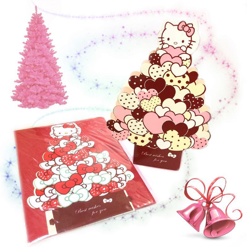 Hello Kitty Christmas Tree Card H 20cm
