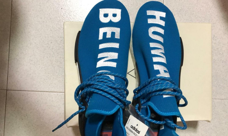 check out 88e64 b3ecf Human race sharp blue