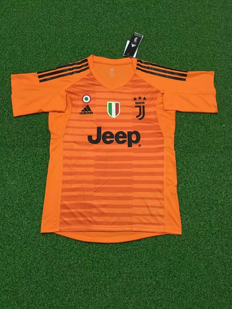 los angeles c720c 02b62 Juventus 18-19 Orange Goal Keeper Short Sleeve Kit, Sports ...