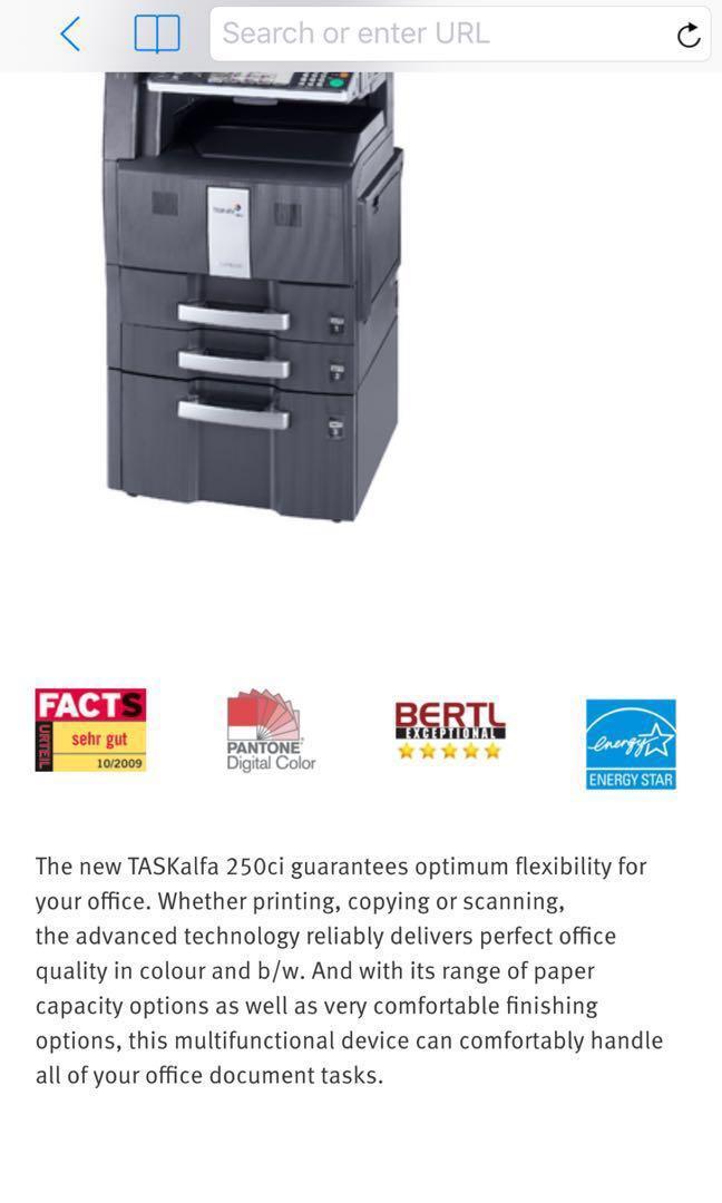 KYOCERA TASKalfa 250ci Industrial Colour Printer Scanner