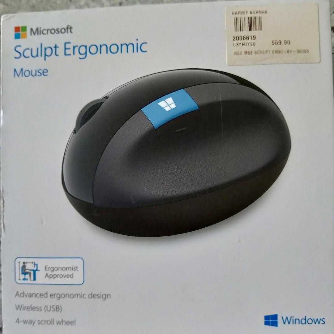 ecd04e31fd0 Microsoft Sculpt Ergonomic Mouse, Electronics, Computer Parts ...
