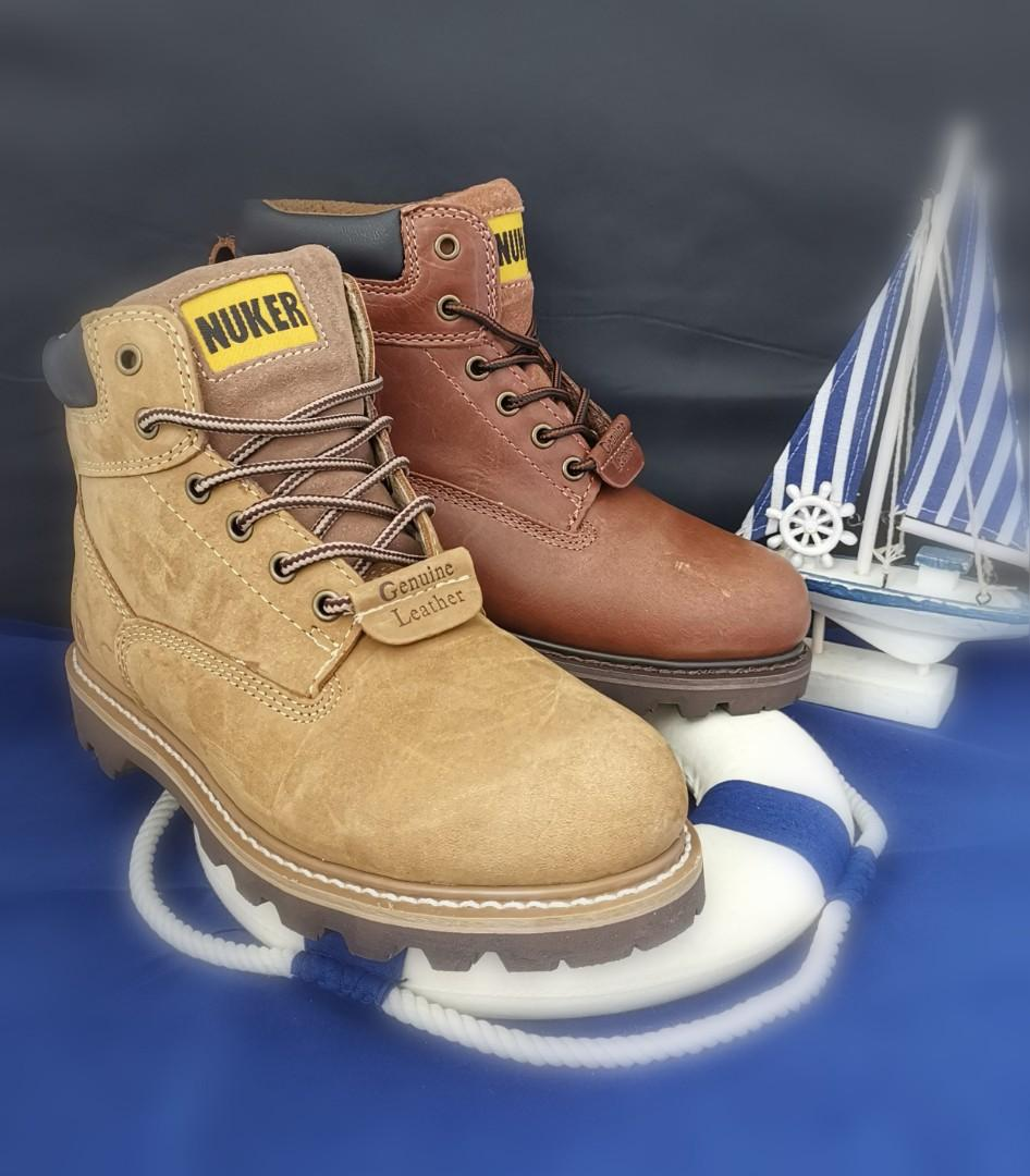 Nuker steeltoe boots, Men's Fashion, Footwear, Boots on