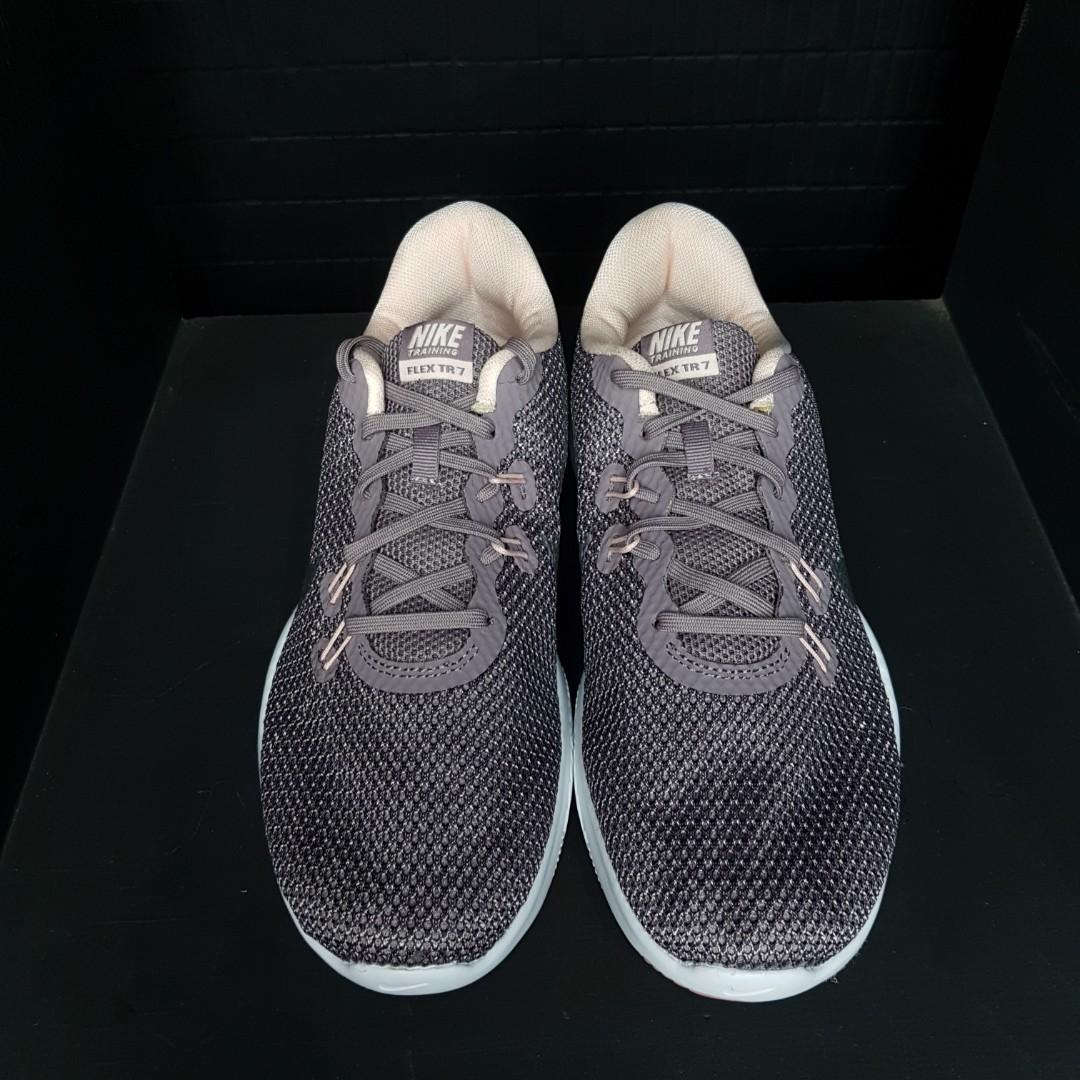 72b78945404 Original Nike Flex Trainer 7 Bionic (Taupe Grey Metallic Silver ...