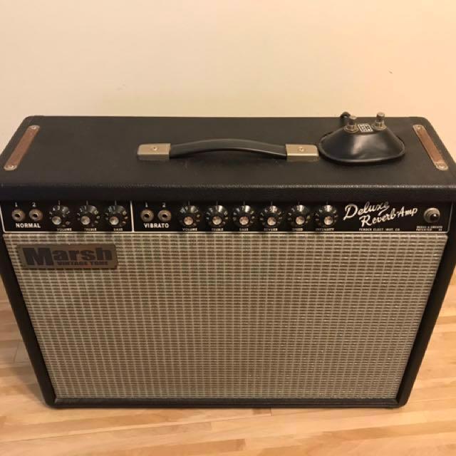 Period-correct 1960s Fender deluxe reverb replica , Music