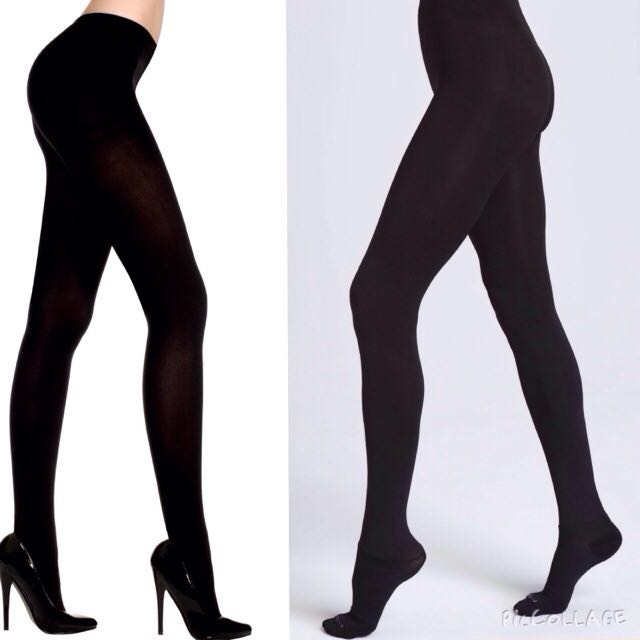 733d15556c6ef Plus Size Opaque Black Tights Leggings Or Stockings 200 Denier L-XL ...