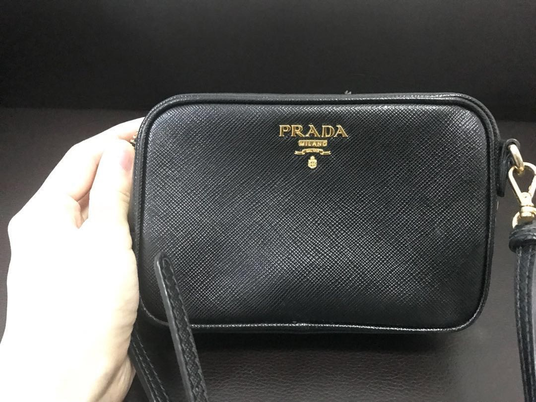 e38f70440626 ... get prada saffiano sling bag luxury bags wallets on carousell f3a6a  94702