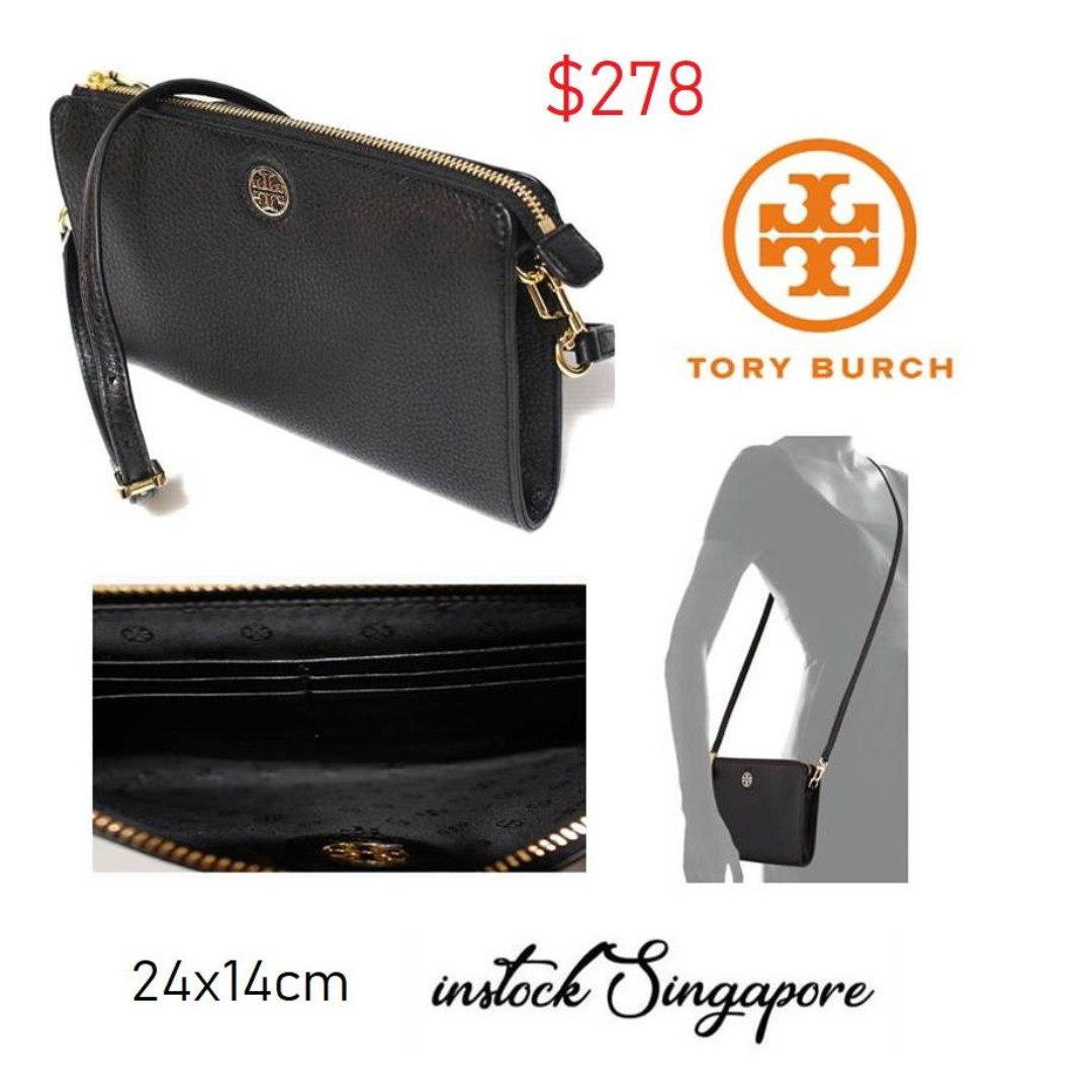 ea144dda6ce5 READY STOCK authentic new Tory Burch Tory Burch Brody Pebbled Wallet ...