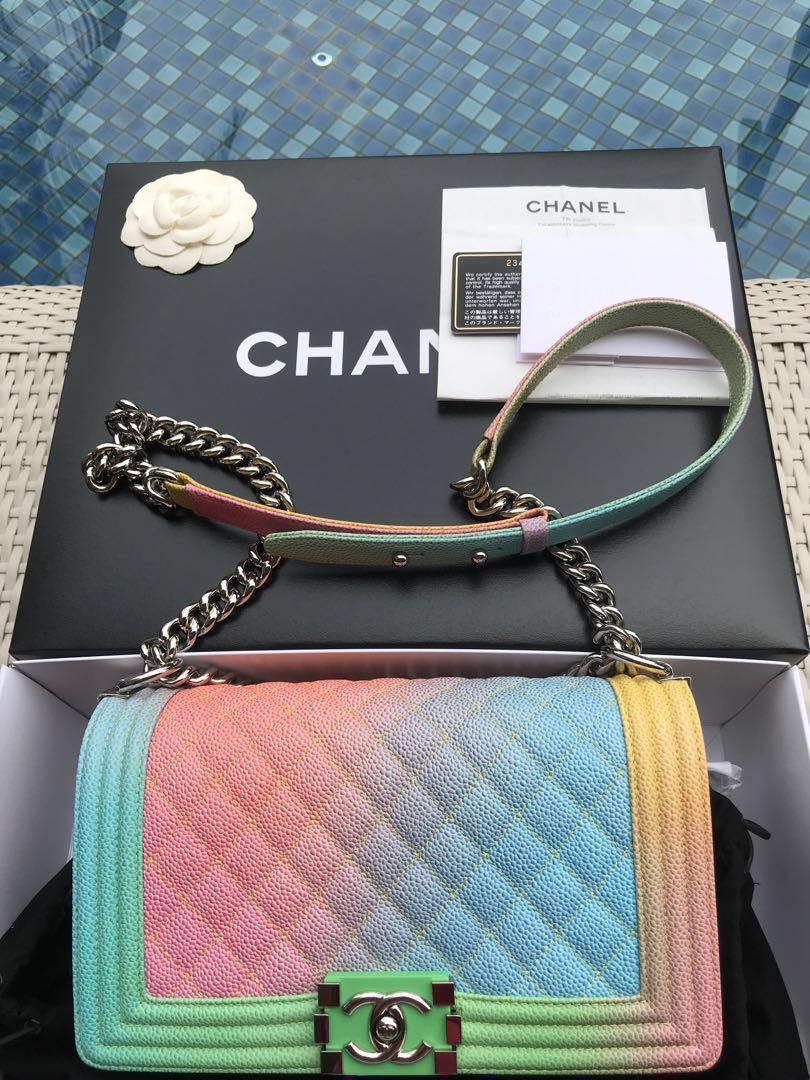 2d1ec038120bc3 (Credit Received, Reserved) Receipt Authentic Chanel Old Medium Rainbow 🌈  Boy (Limited Edition) 🌈, Women's Fashion, Bags & Wallets, Sling Bags on ...