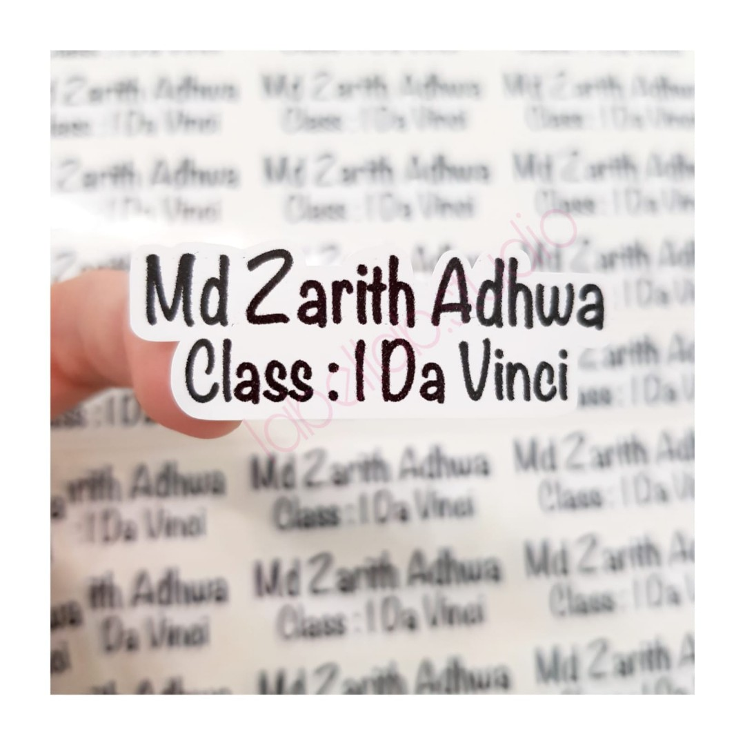 School Name label / textbook name label/ name stickers