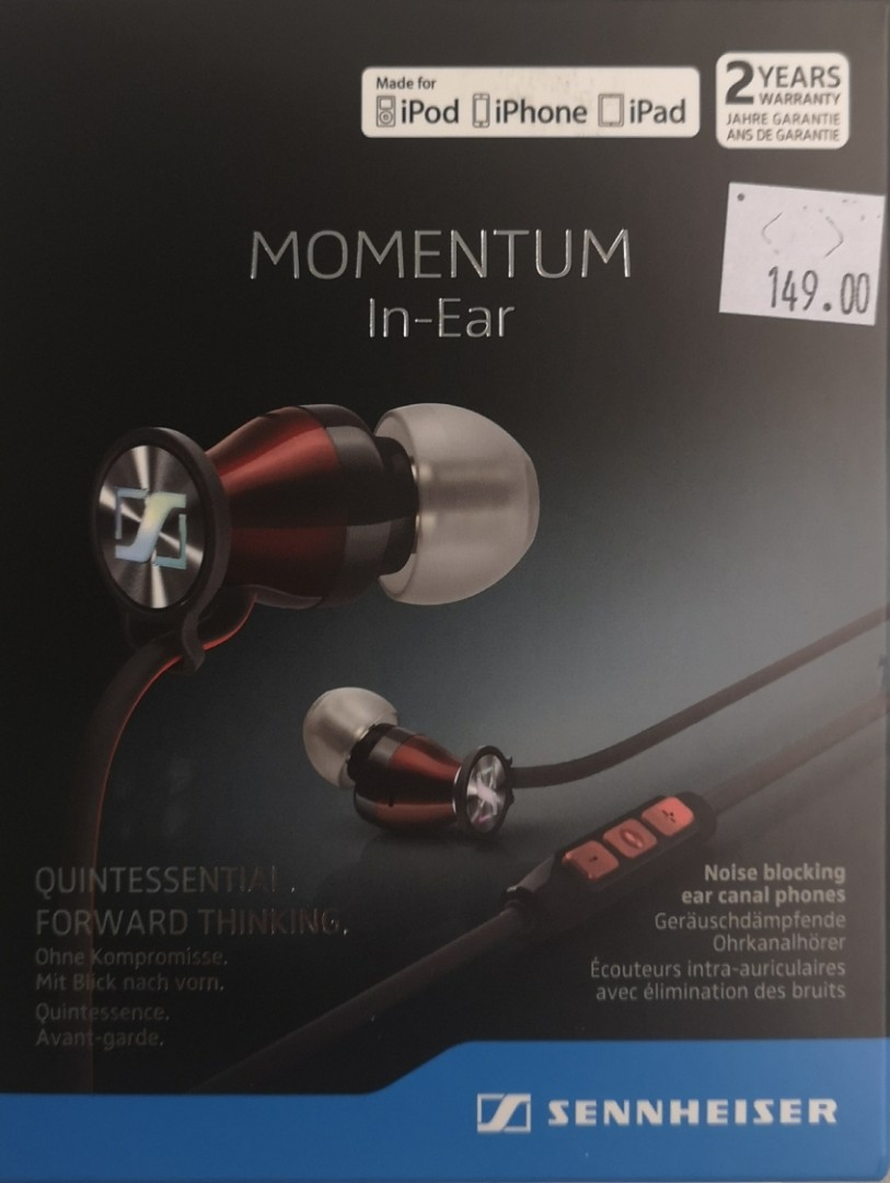 Sennheiser Momentum In-Ear iOS Earphones