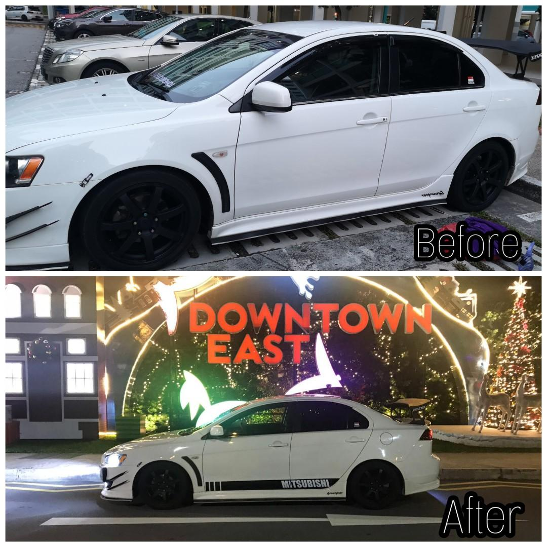 Side decals vinyls custom stickers wrap services car