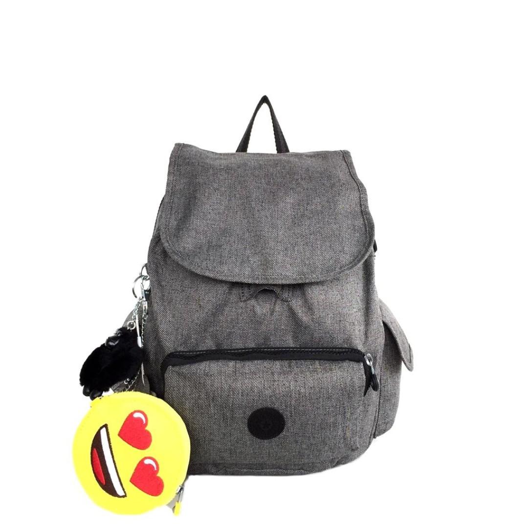 Tas ransel Kipling Ori City Pack Emoji Stripe Small - Grey, Luxury, Bags & Wallets on Carousell