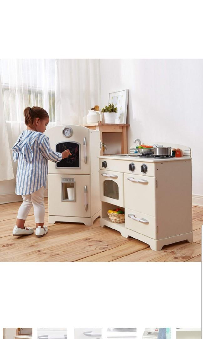 Teamson Kids Retro Wooden Play Kitchen