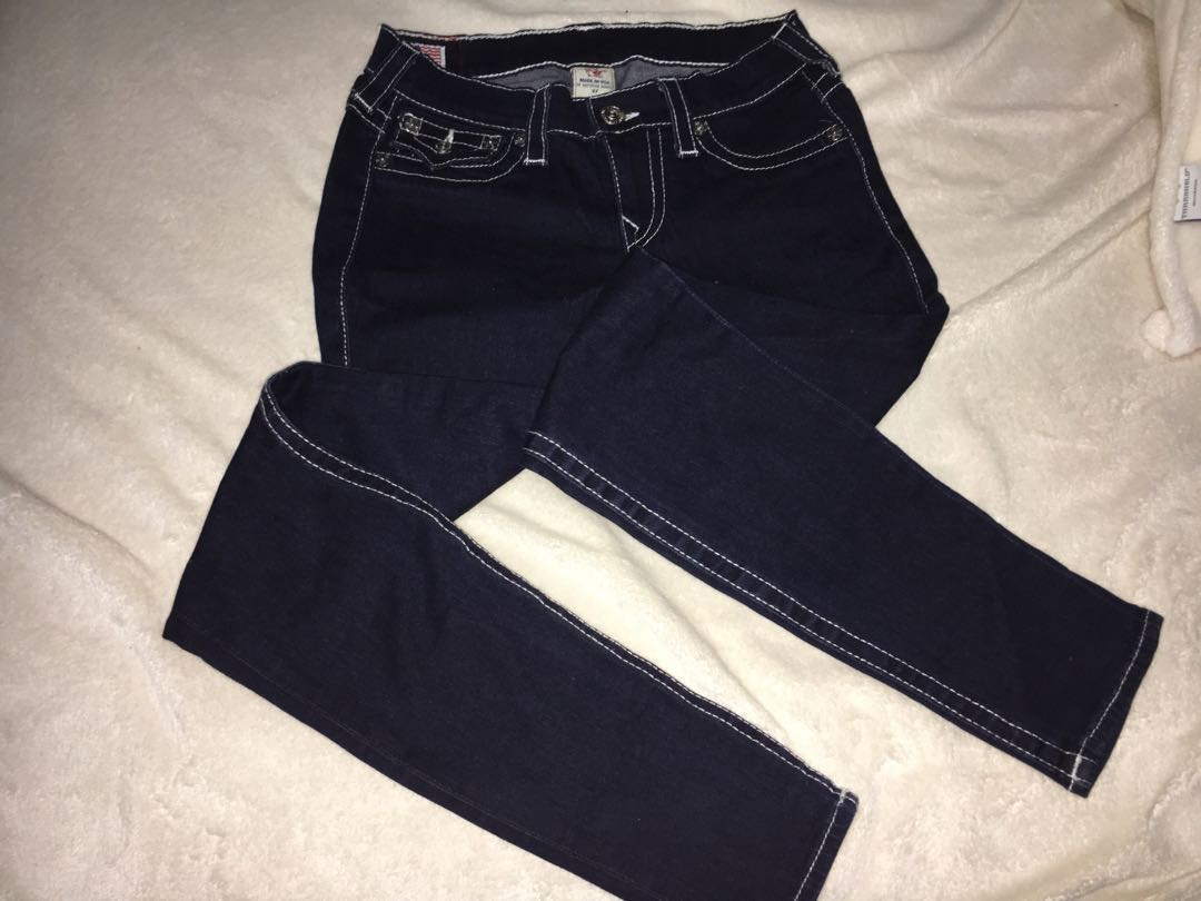 9336334e9 True Religion 'Misty' dark denim blue jeans, Women's Fashion ...