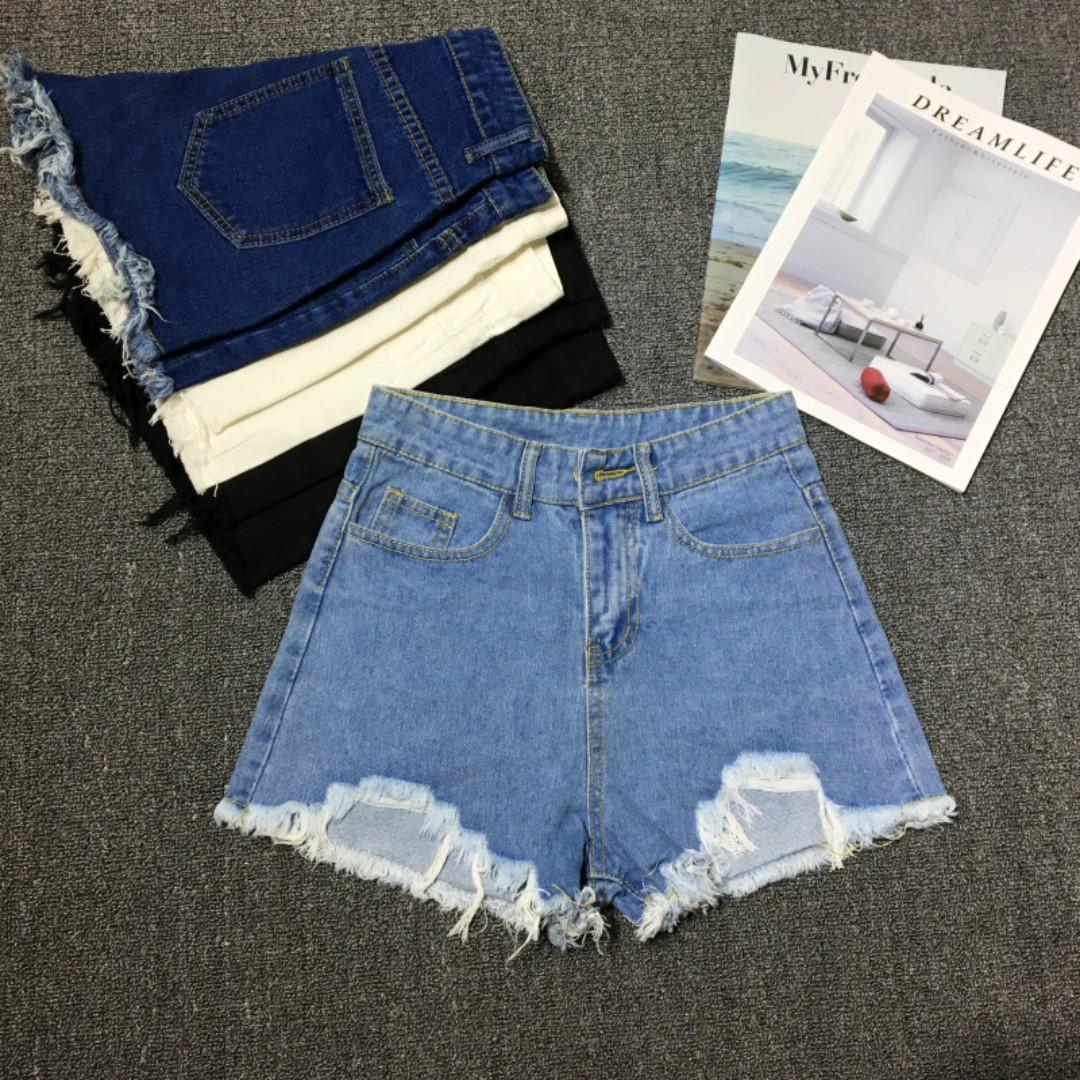 9313f796c1e (UK14) Plus Size Dark Blue Denim Shorts