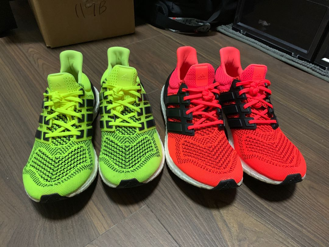 678ec7bce69e1 Ultraboost 1.0 Solar Yellow and Solar Red