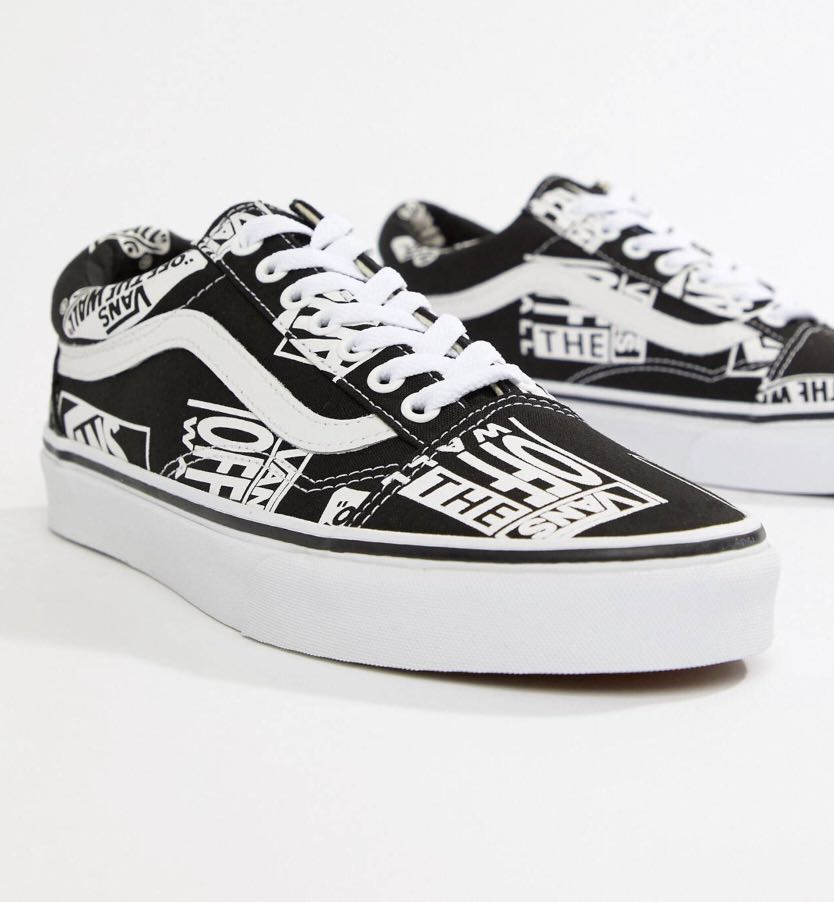 325864155d0da Vans Old Skool LOGO PRINT, Men's Fashion, Footwear, Sneakers on Carousell