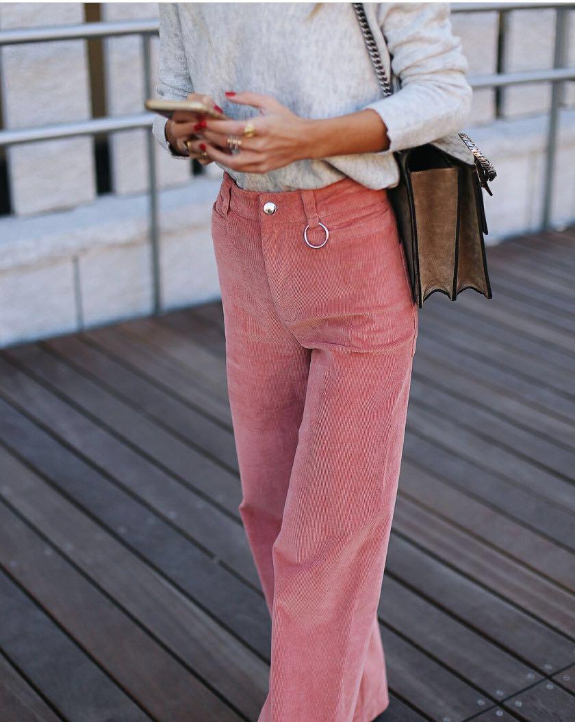 98c6a5e8 Vintage Pink Corduroy Jeans, Women's Fashion, Clothes, Pants, Jeans ...