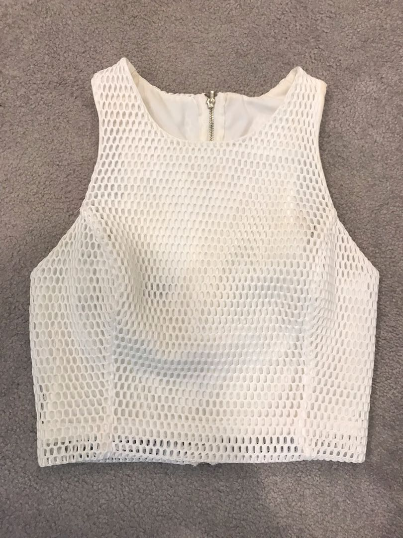 61057cc991 White crop - zzz by Backstage clothing.