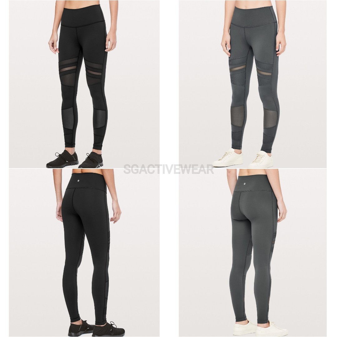 8bfcd9447 Wunder Under HR Tight Mix   Mesh Lululemon