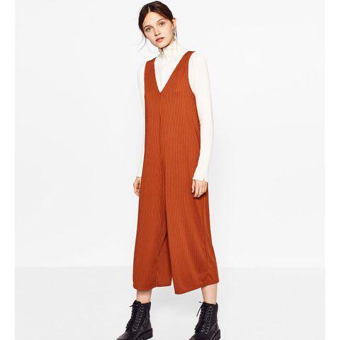 33f4c5042d1 Zara burnt orange jumpsuit