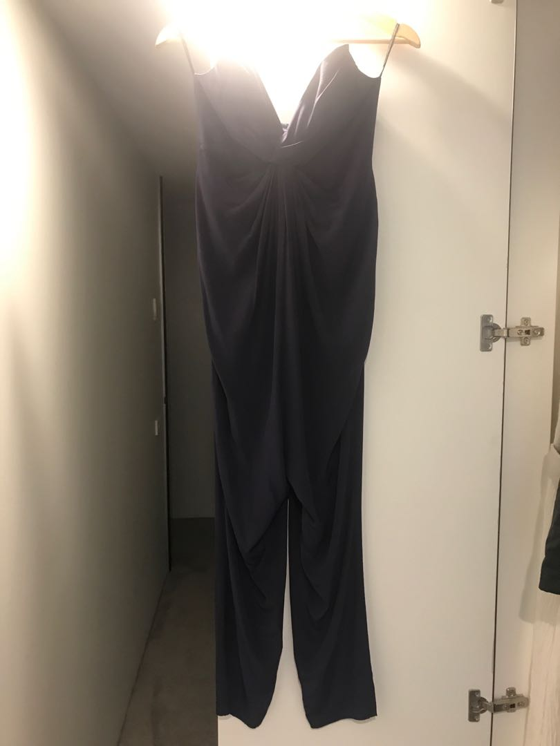 Zimmermann silk jumpsuit with bodice and twirl sweetheart neck