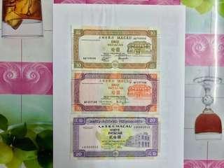1991,96,01年澳幣大西洋3張