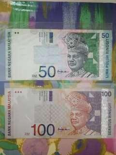 MALAYSIA RM50 & RM100 10th Series
