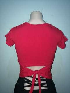 Crop top with back tie