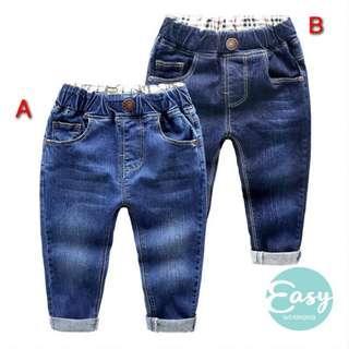 Kids Boy Korean Style Denim Jeans Long Pants Trouser