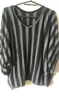 Striped Batwing Top