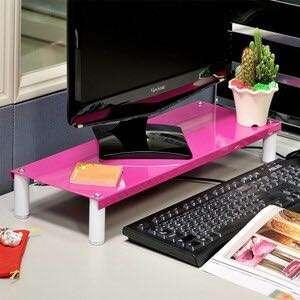IKLOO 宜酷屋 桌上型鍵盤置物架 桃粉紅